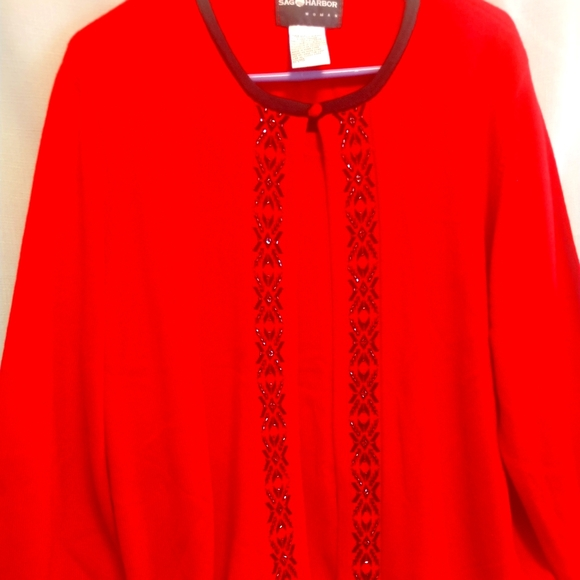Ladies Red Sweater by Sag Harbor